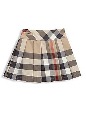 209da38a2007 Burberry Toddler s Pleated Check Skirt