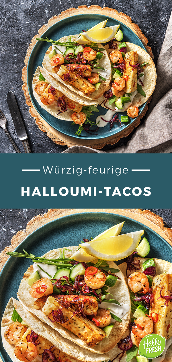 Würzig-feurige Halloumi-Tacos mit karamellisierten Zwiebeln und Aioli