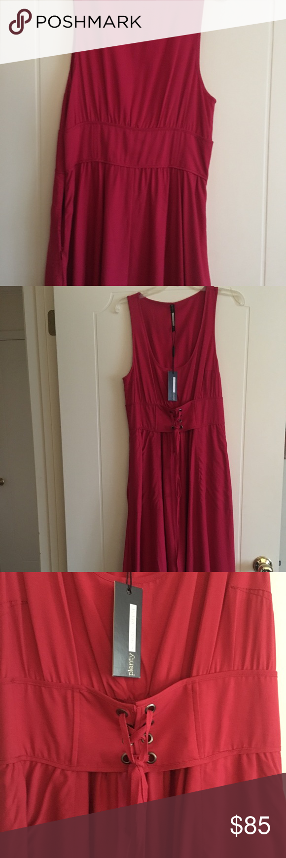 Tracy reese anthropologie long dress tracey reese beautiful red long