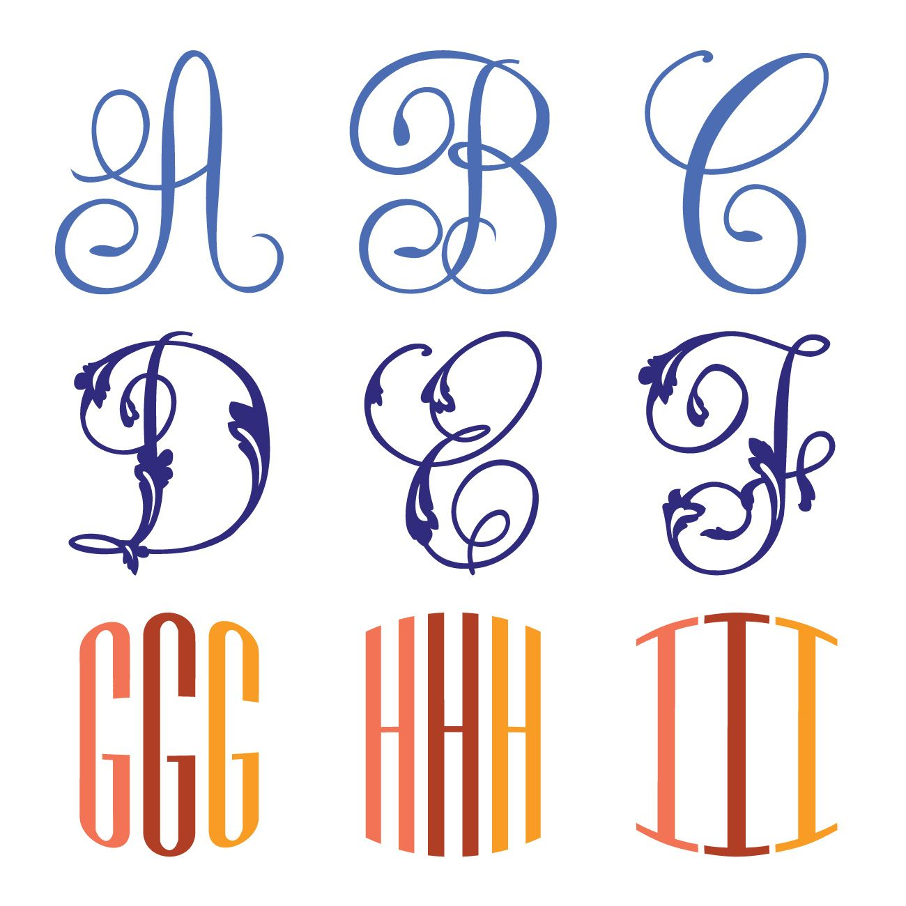 Anna's Decorative Monograms - Anna Griffin - Licensed ...
