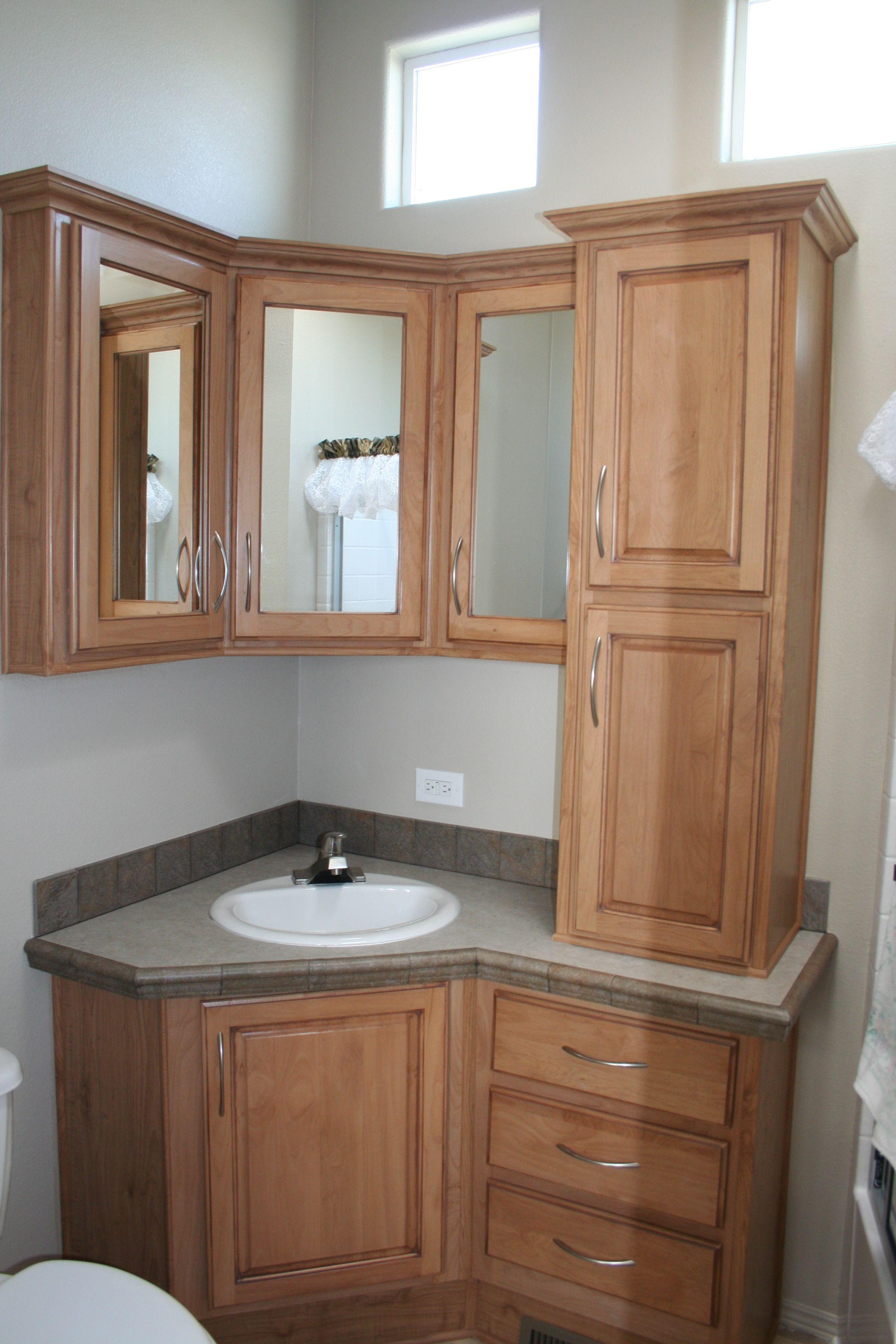 Angled Bathroom Cabinet With Storage Tiny Homes Custom
