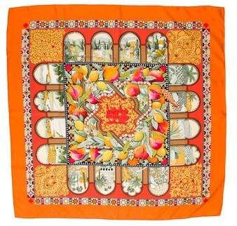 Hermes Les Jardins d Andalousie Silk Scarf   Silk scarves and Products 36c7bc91229