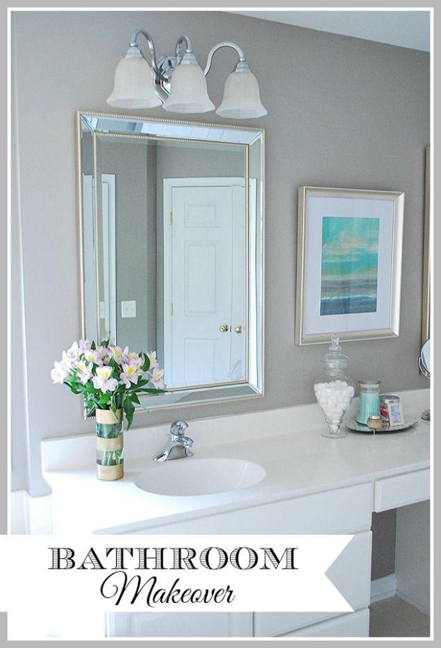 Builder Grade Master Bathroom Makeover Builder Grade Decorative - Cosmetic bathroom makeover