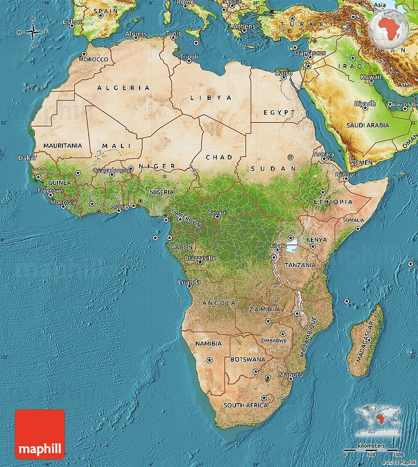 15 Awesome labeled physical features map of africa images   Map