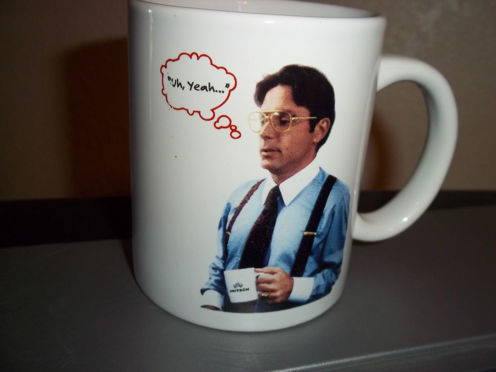 Office Space Movie Coffee Cup Mug Special Edition With Flair Uh Yeah