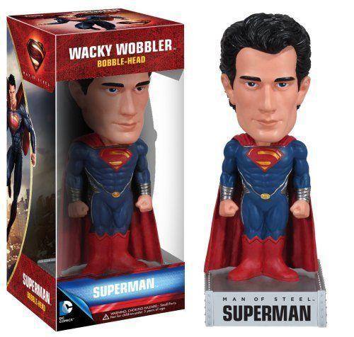 Funko DC Comics Man of Steel Movie: Superman Wacky Wobbler [Holiday Gifts] http://popvinyl.net #funko #funkopop #popvinyls