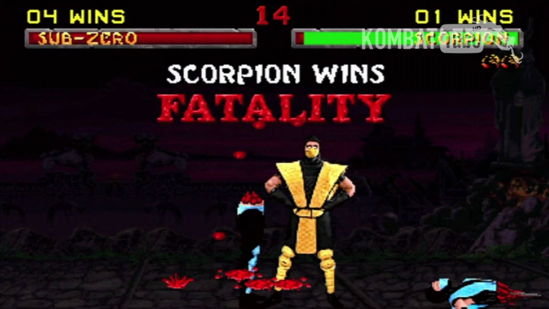 Mk Ii Scorpion Spear Slice Fatality Mortal Kombat Games