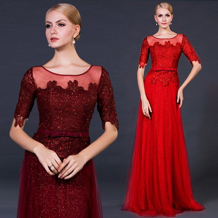 The bride wedding dress 2015 new lace wedding custom wine red sl [C9 The bride wedding dress] - $93.33 : Allymey.com