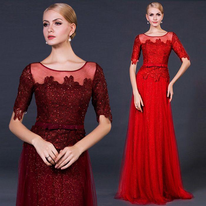 The bride wedding dress 2015 new lace wedding custom wine red sl [C9 The bride wedding dress] - $93.33 : Allymey.com