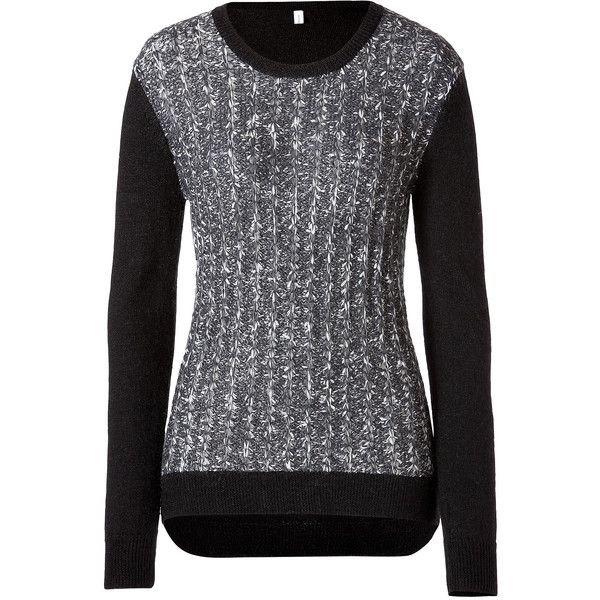 Faith Connexion Paper Yarn Sweater ($67) ❤ liked on Polyvore featuring tops, sweaters, sweatshirts, grey, grey long sleeve sweater, long sleeve pullover, pullover sweater, gray sweater and long sleeve tops