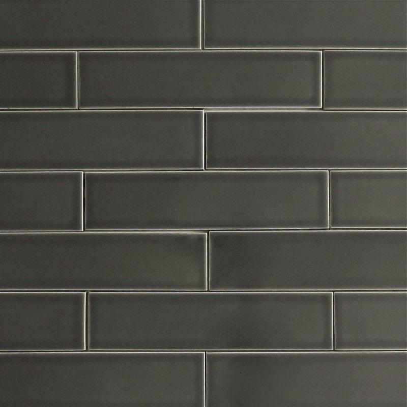 Long Subway Tile Backsplash Carbone
