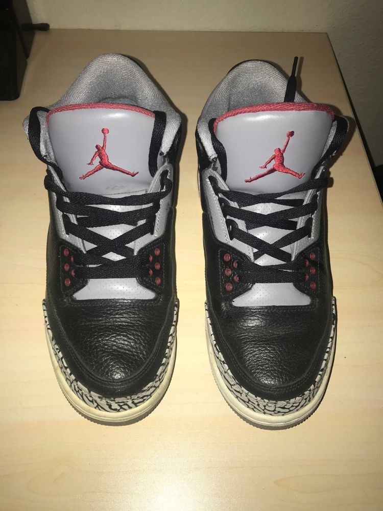 11a8768113e264 2011 Nike Air Jordan 3 Retro III Black Cement Grey Red (136064-010) Size  9.5  fashion  clothing  shoes  accessories  mensshoes  athleticshoes (ebay  link)