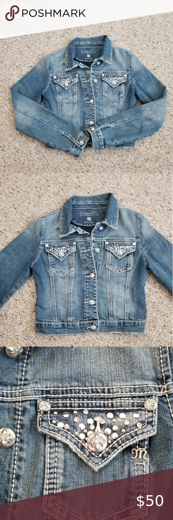Miss Me Jean Jacket Size Small Excellent Condition No Holes No Rips No Stains This Runs Small Please Denim Jacket Women Coats Jackets Women Miss Me Jeans [ 1740 x 580 Pixel ]