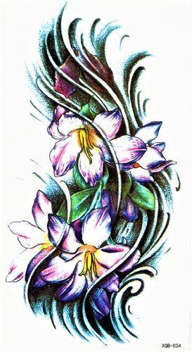 blume lilie bunt welle flower tattoos flowers drawings