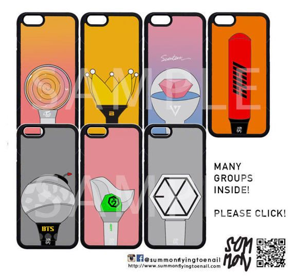 KPop Lightstick Phonecase Iphone/Samsung/OppoMany Groups