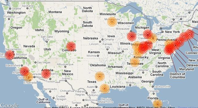 Find Any Bed Bugs Please Do Your Neighbors A Favor And Report It - Map of bed bug infestation in us