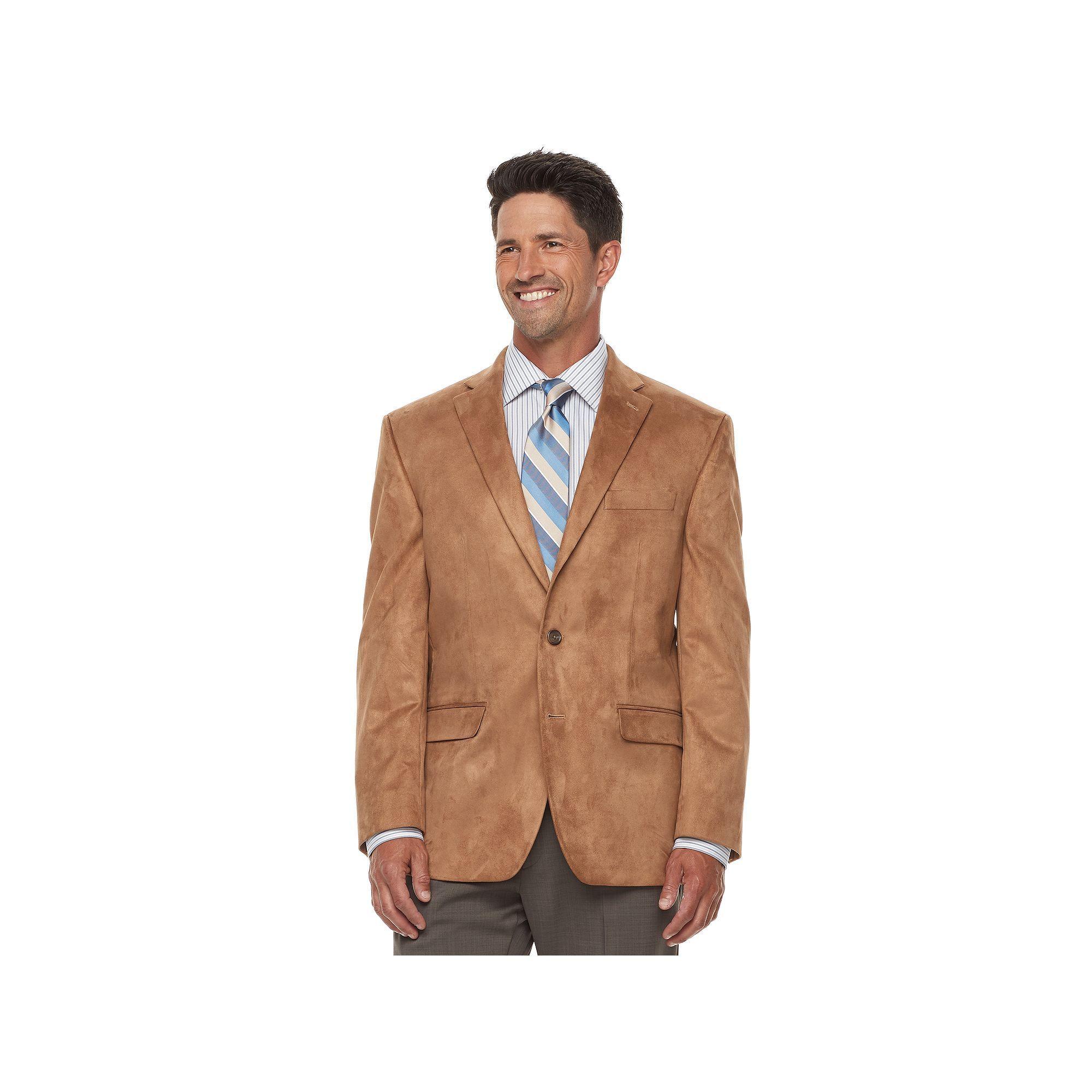 Chaps Mens Classic-Fit Faux-Suede Sport Coat