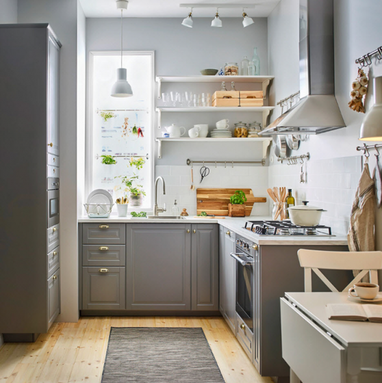 Dise o de cocinas de tama o peque o con distribuci n for Diseno de cocinas pequenas en forma de l