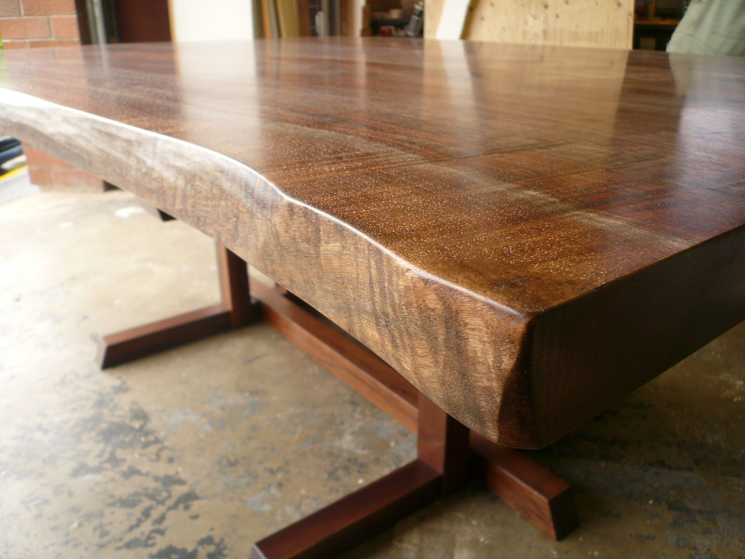 Walnut trestle dining table - Popular Brown Teak Japanese Dining Table With Neutral Polished On Concrete Floors As Inspiring Rustic Dining