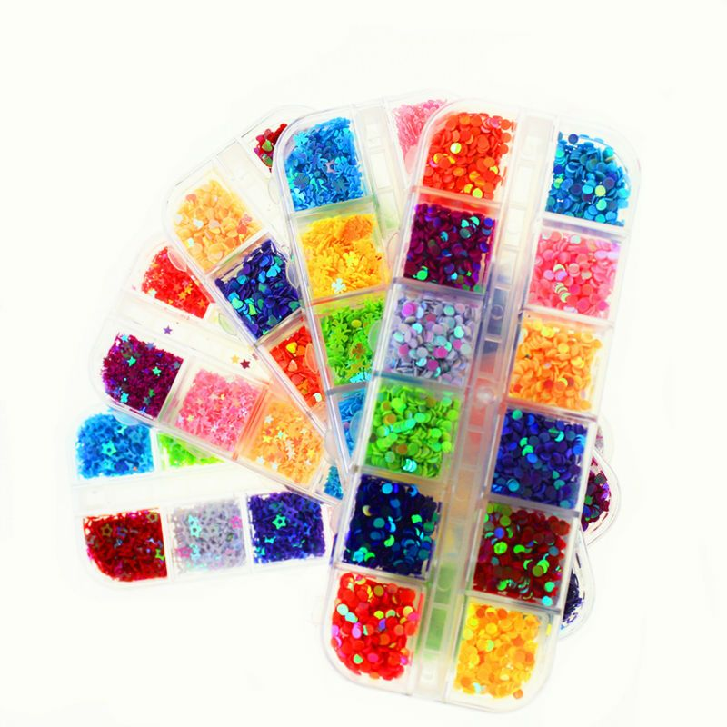 Colorful Glitter Gel Nails Decorations New Arrive Know All for ...