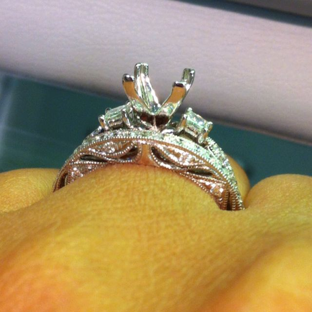 Love the side of this wedding band from Shane Co Wedding Ideas