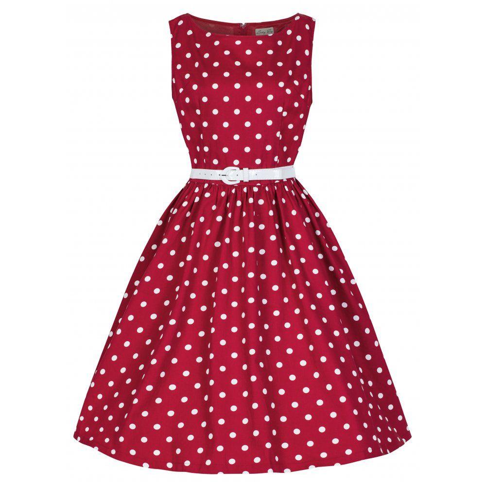 b4bedd791a5f Audrey' Polka Dot Vintage 1950's Rock 'n' Roll Swing Dress | disney ...