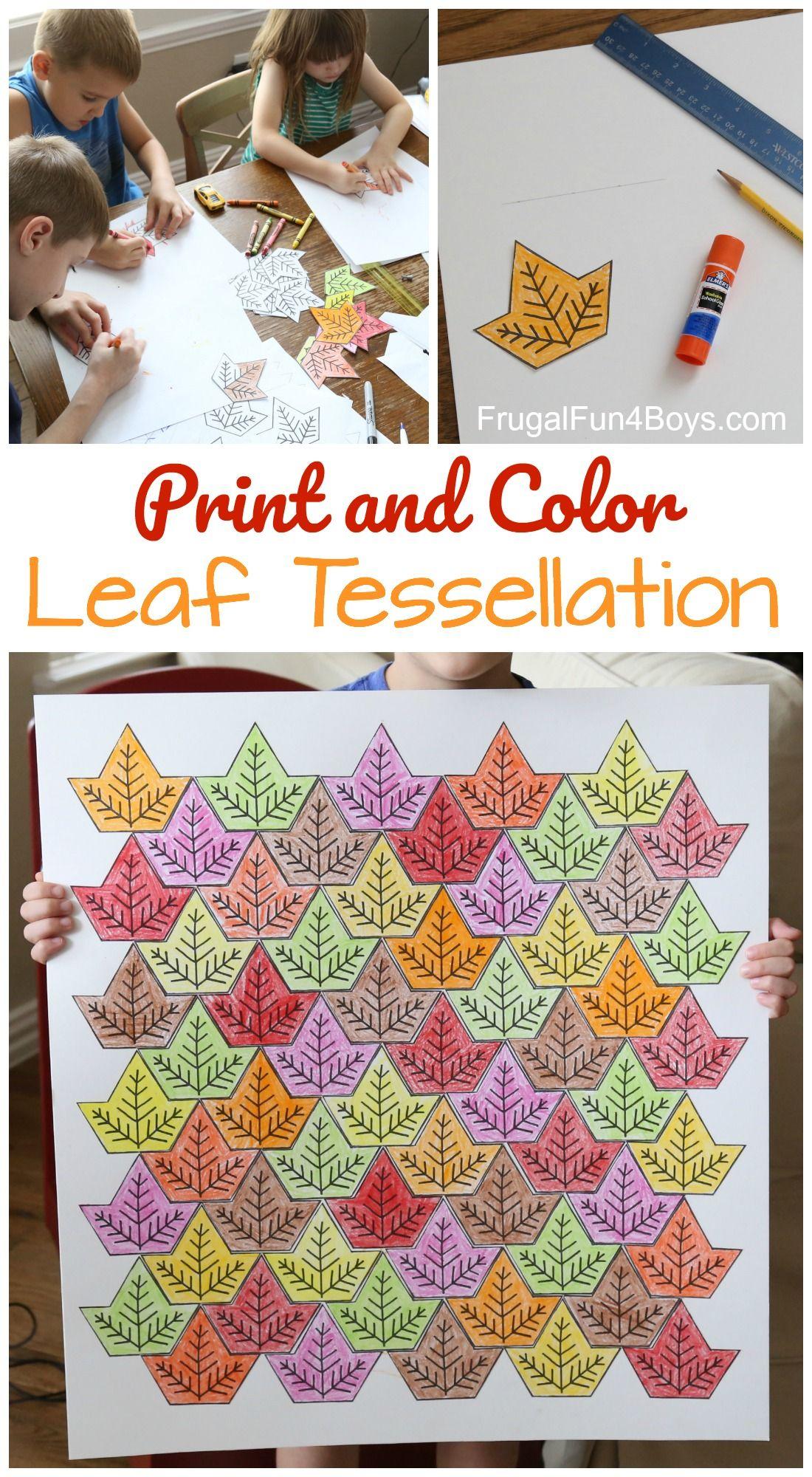 Leaf Tessellation Collaborative Stem Art Project