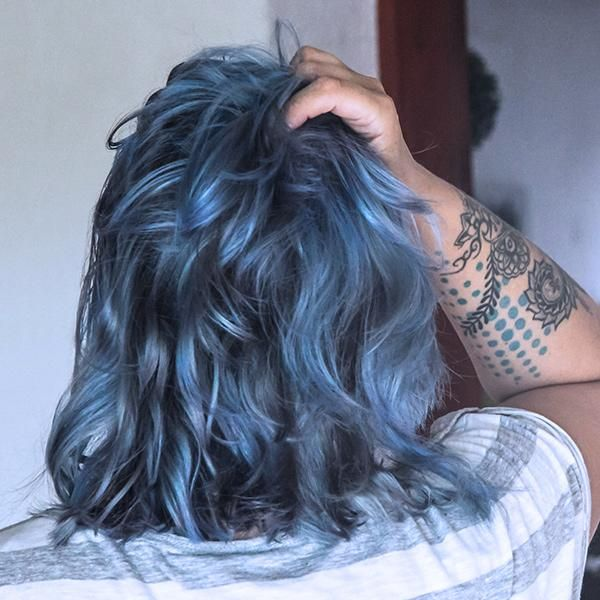 Photo of Pastel Silver Blue (200 ml) Hair Color Conditioner – Evilhair