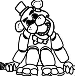 Coloring Golden Nights Freddy Freddys At Five Sketch Coloring Page Fnaf Coloring Pages Coloring Pages Fnaf Drawings