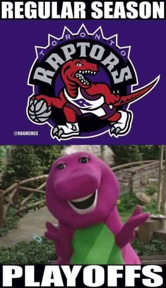 new product 97426 e5592 Raptors Barney Meme | CLE Humor | Nba memes, Funny ...