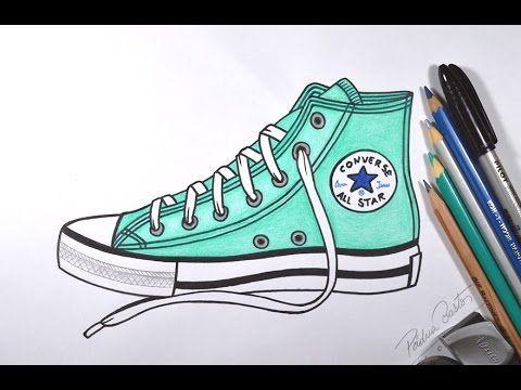Como desenhar um Tênis All Star - passo a passo - YouTube