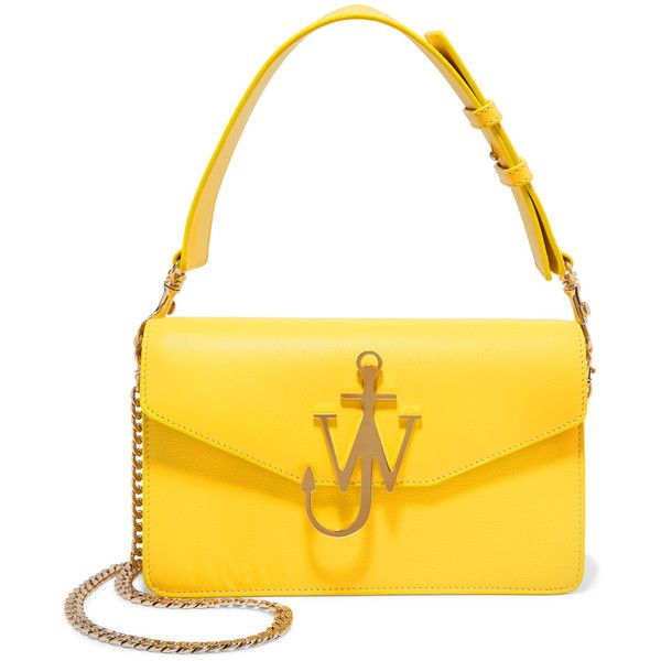 Logo PUrse Bag in Yellow Calf Leather J.W.Anderson 6xcUMuH