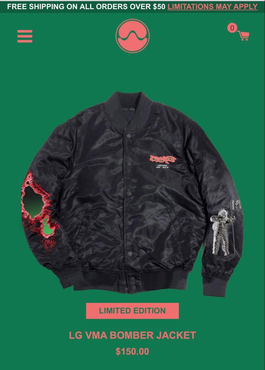 Lady Gaga Chromatica Bomber Jacket Women Bomber Jacket Jackets For Women [ 1200 x 862 Pixel ]
