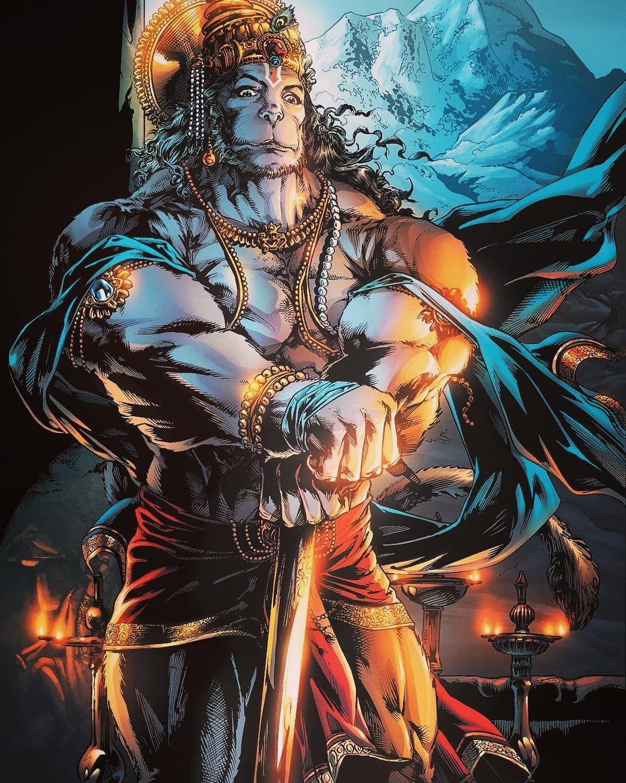 100 original indian muscle lord hanuman ������ were taking
