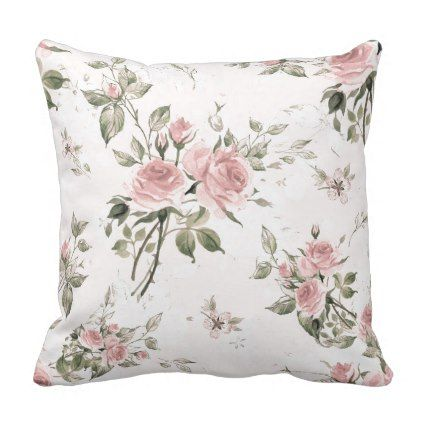Shabby Chic French Chic Vintagefloralrusticpi Outdoor Pillow