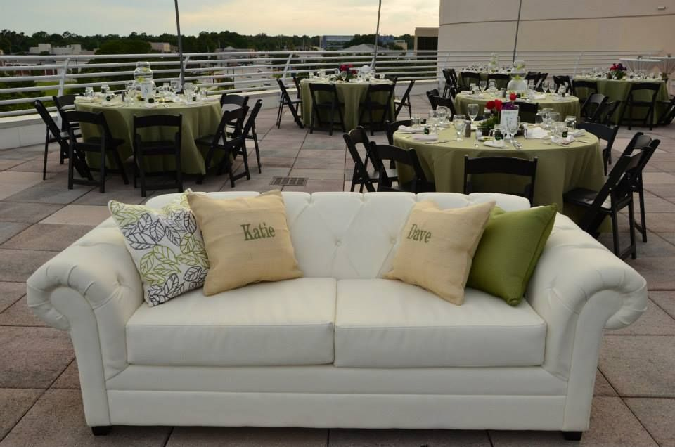 Terrace Rooftop Wedding Reception At The Orlando Science Center With Floral  Design By Lee Forrest Designs