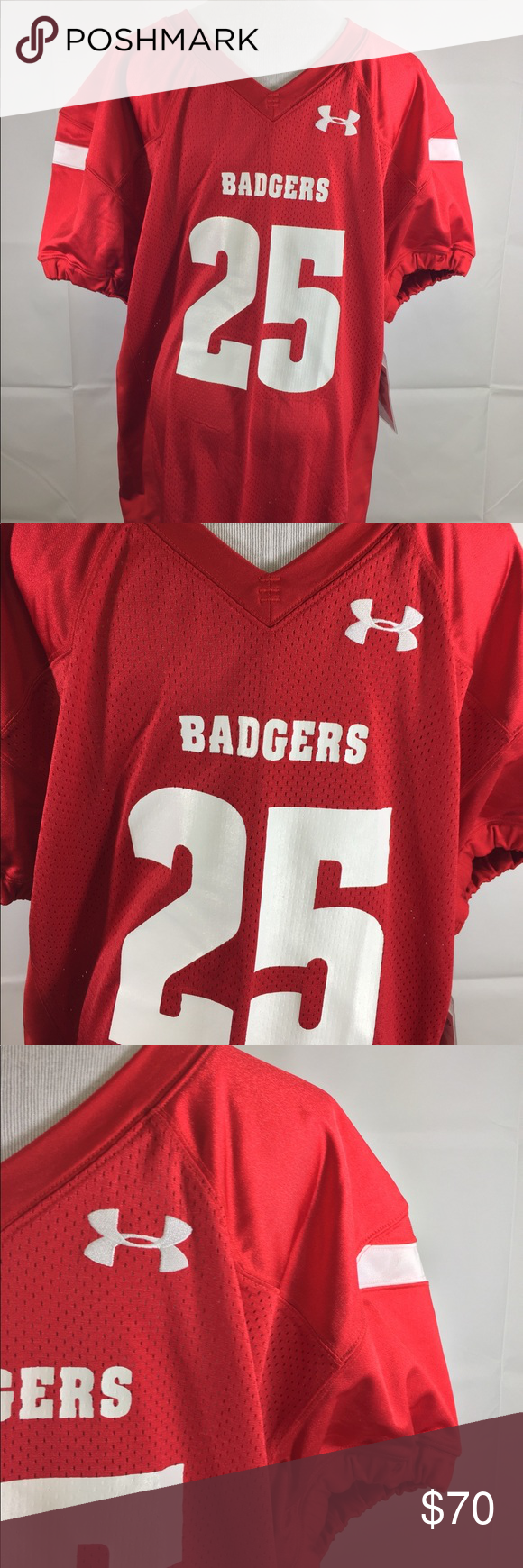 best cheap c2355 df04d Under Armour Wisconsin Badgers Jersey #25 Large NWT in 2018 ...