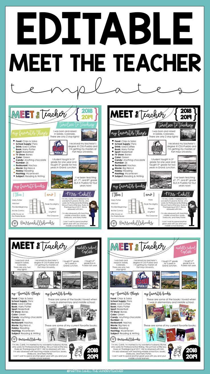 Meet the Teacher Template Editable {Two Volume Bundle} #meettheteacherideas