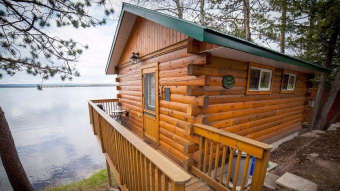 Lakefront Log Cabin Cottage Rental Waterfront Cottage Cottage