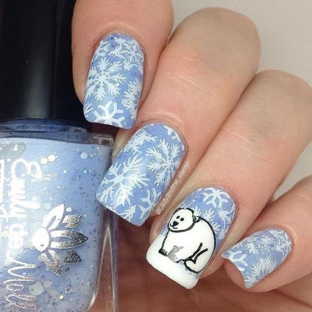 80 Snowflake Nails Art Designs For Winter Nails 2017 2018 Winter