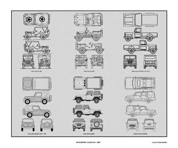 Jeep blueprint collection drawing art car auto by conceptproducts jeep blueprint collection drawing art car auto by conceptproducts malvernweather Choice Image
