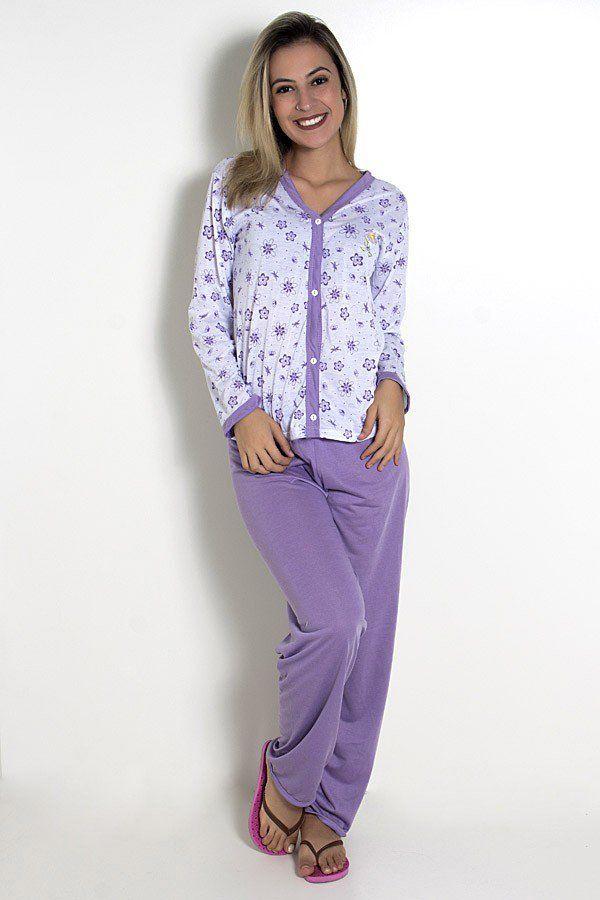 ce5eea6289e100 Pijama feminino longo 182 (Lilás) | pijamas fem | Pijama feminino ...