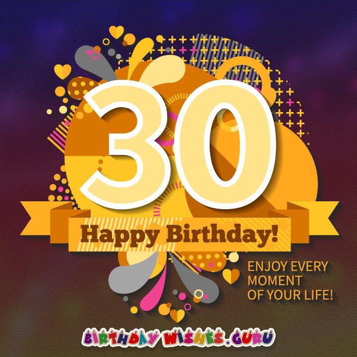 30th Birthday Wishes | 30th birthday wishes, Happy 30th ...30th Happy Birthday Wishes For Men