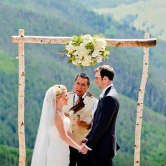 White cedar chuppah set 3 piece white birch wedding arch kit northern boughs junglespirit Gallery