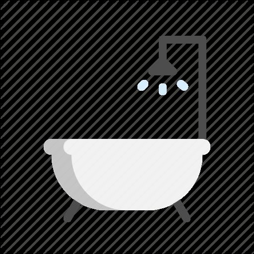 Bath Bathroom Bathtub Rainshower Shower Tub Icon Download On Iconfinder Bathtub Tub Shower Tub