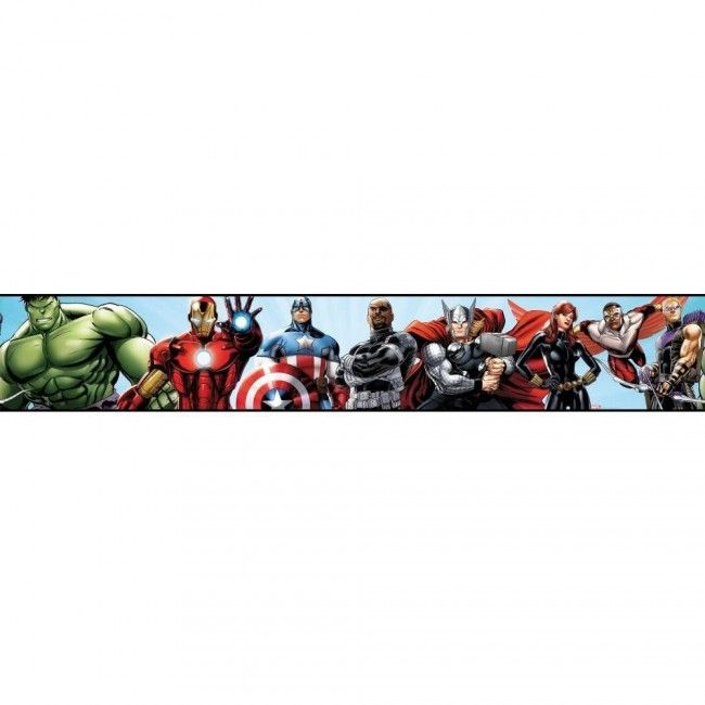 The Avengers in Action Marvel Sure Strip Wallpaper Border