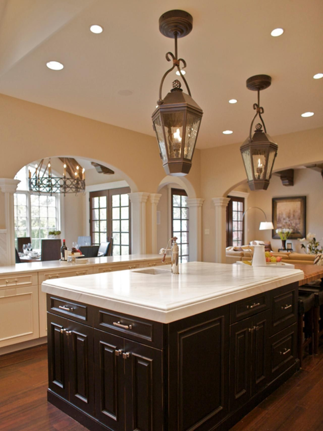 Hanging Lantern Lights For Kitchen Minimalist Kitchen Design