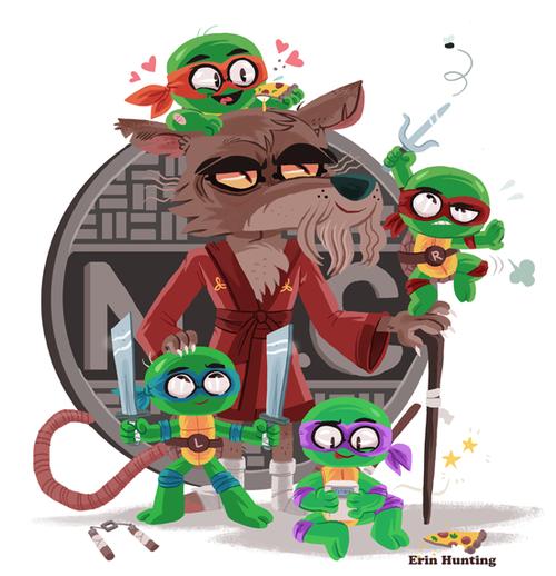 Turtles & Splinter - Erin Hunting