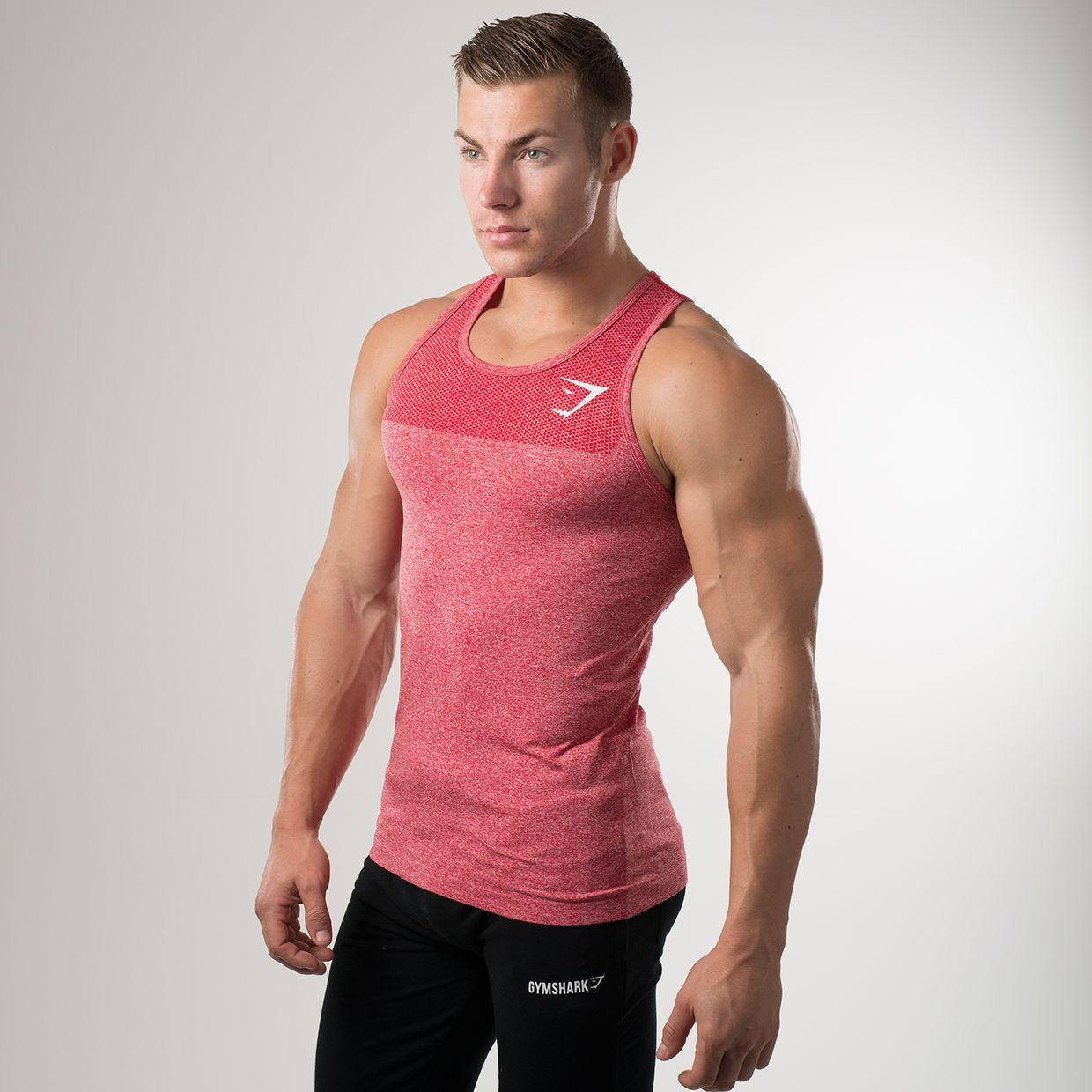 748b44b2e0dd1 The Gymshark Phantom Crimson Tank. Part of our Phantom Seamless range which  is the result of three generations of improvement of our Seamless  technology.
