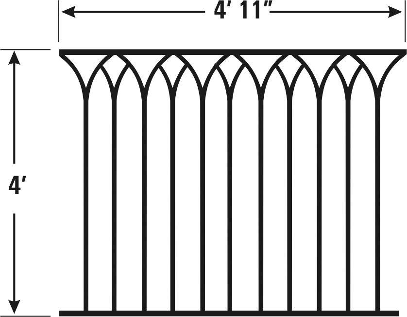 Best Cathedral Model Cast Iron Fencing Wrought Iron 640 x 480